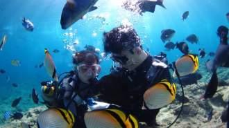 沖縄・青の洞窟・体験ダイビング