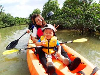 【1歳~OK】熱帯ジャングルマングローブのカヤック探検♪