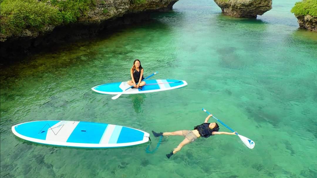 お手軽なのに大満足半日プラン! 宮古島の美しい海でSUPorカヌー体験(選択可)&シュノーケリング体験!  どちらのアクティビティも経験不問!ガイドがサポートいたしますのでお気軽にご参加を!