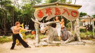 【沖縄・西表島】2つの名所を訪れる!ピナイサーラの滝カヌー&由布島観光【由布島チケット込み】