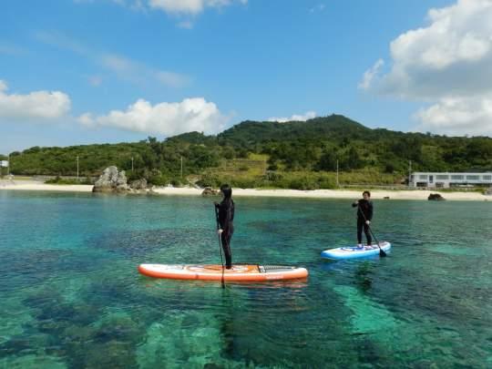 【沖縄・本部エリア】体験ダイビング・SUPセットコース 1日午前1組 午後1組限定開催