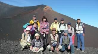 ★富士山の宝永火山の火口巡りCコース、。