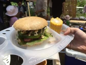 ひぐらしフードラボ ハンバーガー野菜収穫試食体験