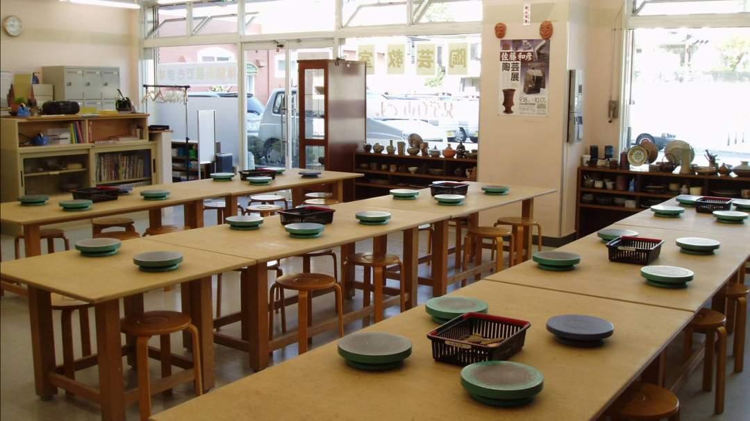 広く設備の整った教室です。