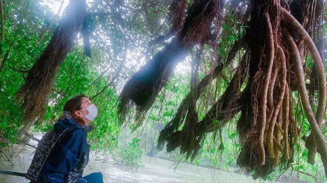 奥には神聖なガジュマルの木も…