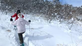【裏磐梯 スノーシュー体験】ダッチオーブンランチ付 雪満喫1日コース!
