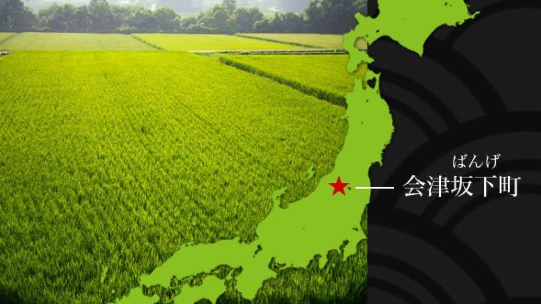 会津坂下町は会津盆地の西側に位置する、人口の多くが農業を営んでいる町です。 福島県内でも西側に位置しているため、新潟県と同様の天候になり、日本でも屈指の米どころとして知られている町です。また、美味しい米とおいしい水があるため酒蔵が多く、酒が美味しいことでも有名です。